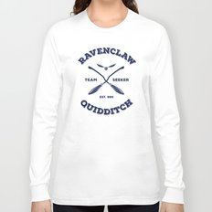 Ravenclaw Quidditch Team Seeker: Blue Long Sleeve T-shirt