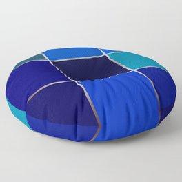 Cobalt , patchwork Floor Pillow
