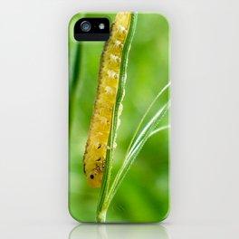 Magic Grass - Caterpillar - Macro iPhone Case