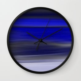 Dark Night Seascape Abstract In Blue Wall Clock