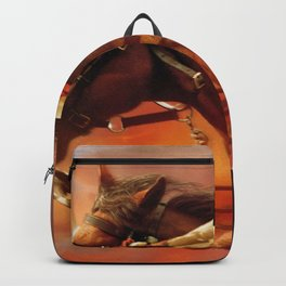 Horse Galloping Into Sunset Ultra HD Backpack