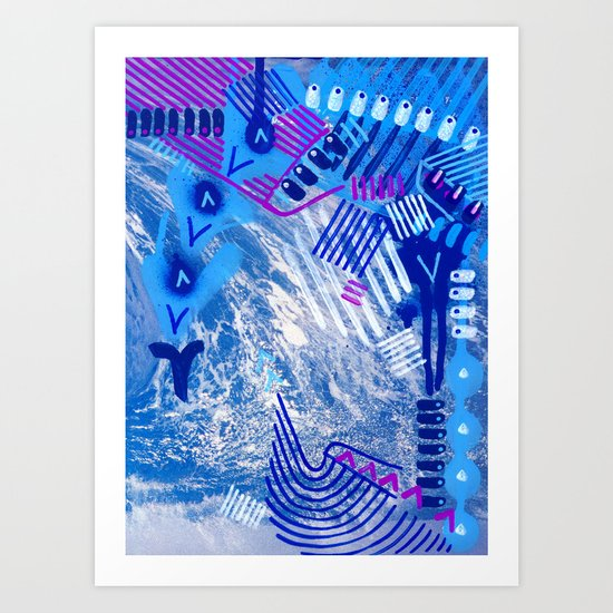 Wave Blue II Art Print