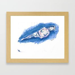 Watercolor of a Woman Framed Art Print