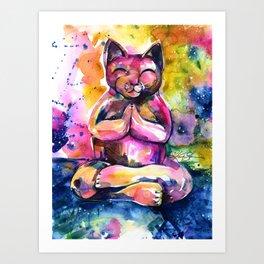 Buddha Cat No. 11 Art Print