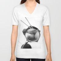 shells V-neck T-shirts featuring shells by Marga Parés