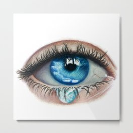 Saltwater Eyes Metal Print