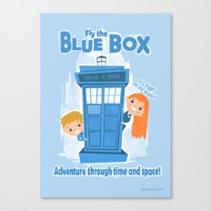 Fly the Blue Box! Canvas Print