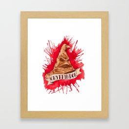 House Splatter - Scarlet Framed Art Print