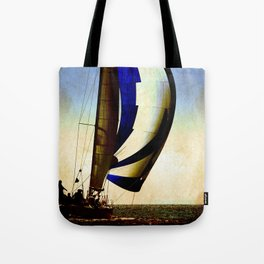 sailboat sailing at the race Tote Bag