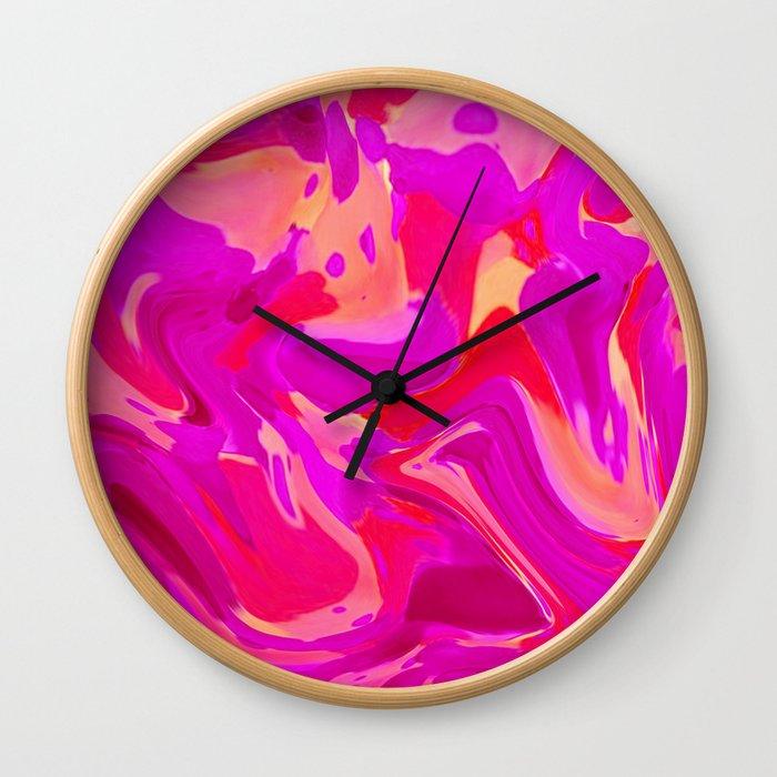 Tulip Tangle Wall Clock