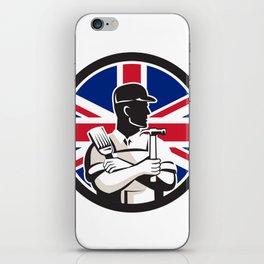 British DIY Expert Union Jack Flag Icon iPhone Skin