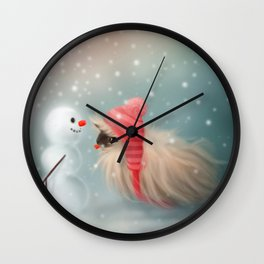Snowy & Piggy Wall Clock