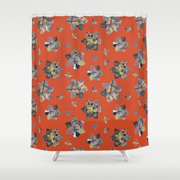 Geometric Quilt Colorway 1 Shower Curtain