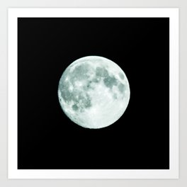just moon Art Print