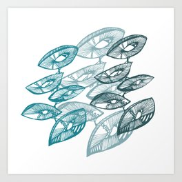AbstractPlant Art Print