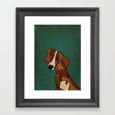 Sad Doggy Framed Art Print