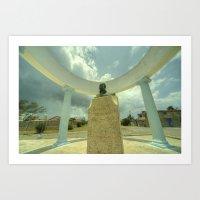 hemingway Art Prints featuring Hemingway Memorial  by Rob Hawkins Photography