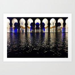 Night Light Reflections Art Print
