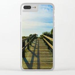Boardwalk to the Beach on Little Gasparilla Island, Florida USA Clear iPhone Case