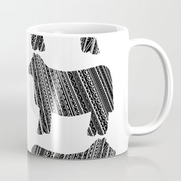 Mandala Heifer Cow Silhouette Coffee Mug
