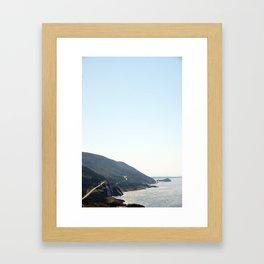 sky road Framed Art Print