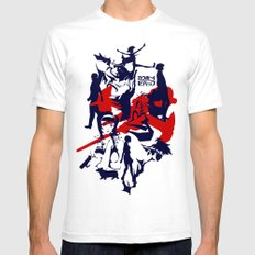 Space Cowboys Are Us MEDIUM White Mens Fitted Tee