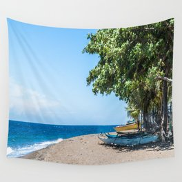A Bend in the Beach Wall Tapestry