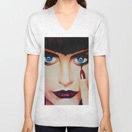 Woman Face Unisex V-Neck