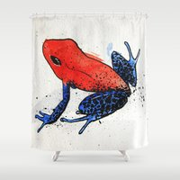 frog Shower Curtains featuring Frog by Jacob Haynes