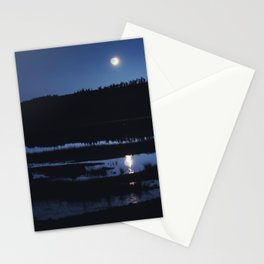 Marsh Moonset Stationery Cards