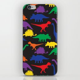 Dinosaurs - Black iPhone Skin