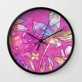 Moxie Magnolia Wall Clock