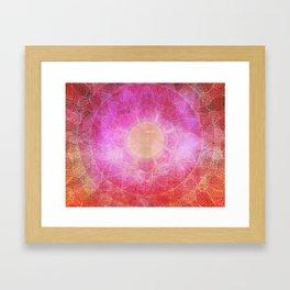Pink yoga watercolor mandala Framed Art Print