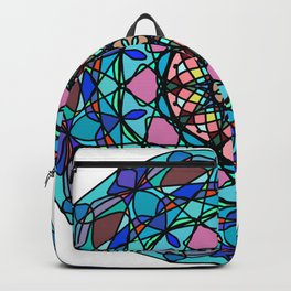 Round ornament in ethnic style Backpack
