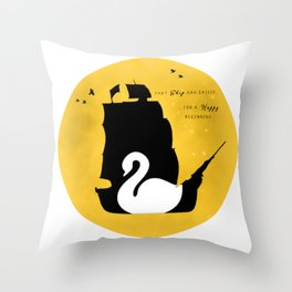 CAPTAIN SWAN (Yellow) Throw Pillow
