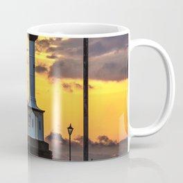 Maryport Lighthouse At Sunset Coffee Mug