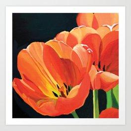 Princess Irene Tulips III Art Print