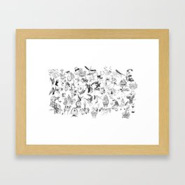 Ink Thougts Framed Art Print