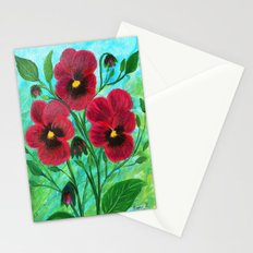 Wild pansies  Stationery Cards
