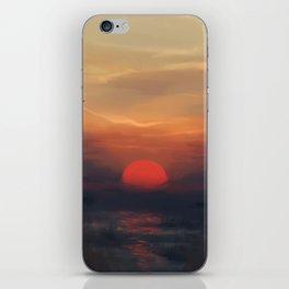 Red Sun iPhone Skin