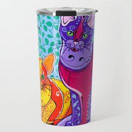 Designer Cats Travel Mug