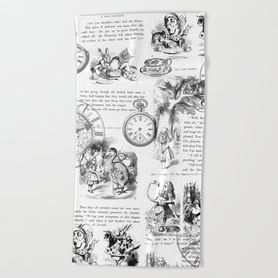 Alice in Wonderland - Pages Beach Towel