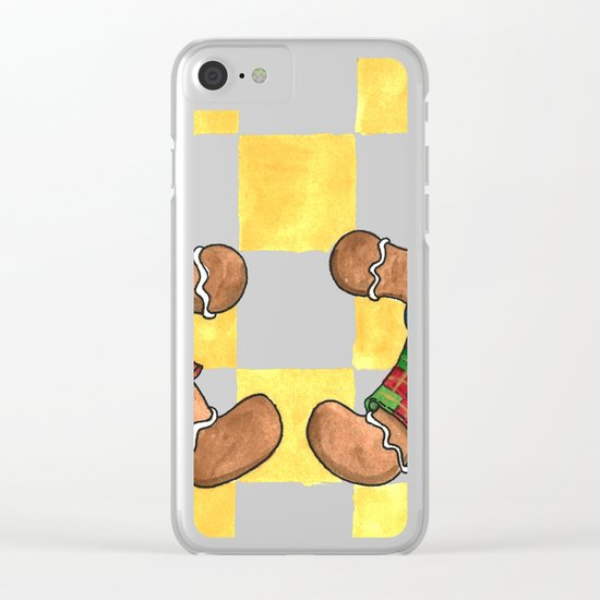 The Gingerbread Twins Clear iPhone Case