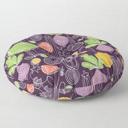 Vegetable Pattern Scandinavian Design Floor Pillow