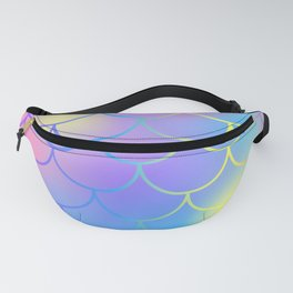 Turquoise Purple Mermaid Fanny Pack