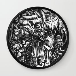 Desert Peaceable Kingdom Wall Clock