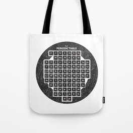 Periodic Table of Elements Inside Circle School Chalkboard Tote Bag