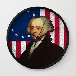 John Adams and The American Flag Wall Clock