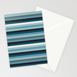 Adelaide Modern Riviera Stripe in Blue - Stationery Cards