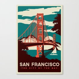 vintage poster san francisco Canvas Print